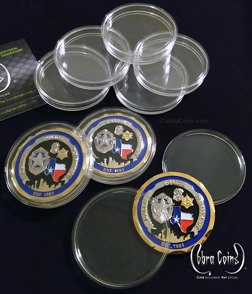 Clear Plastic Challenge Coin Cases