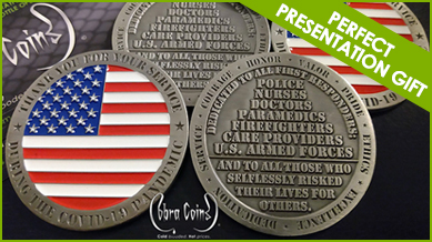 COVID-19 Challenge Coin First Responders Gift