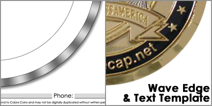 Design your challege coins for Military coin design template