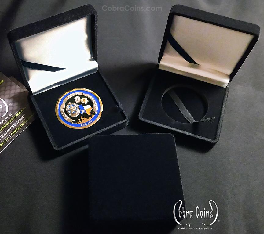 Velvet Presentation Cases Challenge Coins