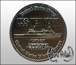 Collaboration coin between the U.S. Navy and the U.S. Marine Corps.