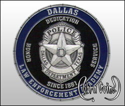 3D Dallas Police coin created for the Academy.